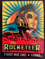1991 Topps The Rocketeer Series 1 Sealed Wax Hobby Trading Pack PK-160