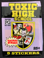 1991 Topps Toxic High School Sealed Wax Hobby Trading Pack PK-163