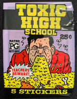 1991 Topps Toxic High School Sealed Wax Hobby Trading Pack PK-164