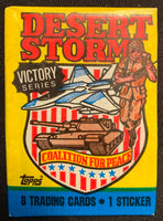 1991 Topps Desert Storm Victory Series Sealed Wax Hobby Trading Pack PK-166