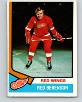 1974-75 O-Pee-Chee #19 Red Berenson  Detroit Red Wings  V4260