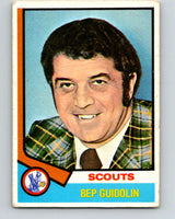 1974-75 O-Pee-Chee #34 Bep Guidolin CO  Kansas City Scouts  V4293