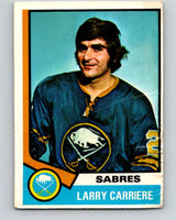 1974-75 O-Pee-Chee #43 Larry Carriere  Buffalo Sabres  V4311