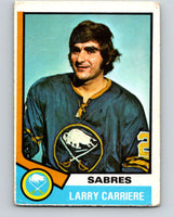 1974-75 O-Pee-Chee #43 Larry Carriere  Buffalo Sabres  V4312