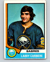 1974-75 O-Pee-Chee #43 Larry Carriere  Buffalo Sabres  V4313