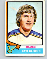1974-75 O-Pee-Chee #47 Dave Gardner  RC Rookie St. Louis Blues  V4316