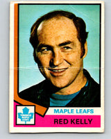 1974-75 O-Pee-Chee #76 Red Kelly CO  Toronto Maple Leafs  V4375