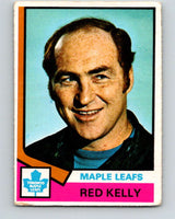 1974-75 O-Pee-Chee #76 Red Kelly CO  Toronto Maple Leafs  V4376