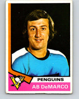1974-75 O-Pee-Chee #89 Ab DeMarco  Pittsburgh Penguins  V4404