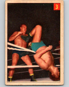 1954 Parkhurst #3 Whipper Billy Watson Wrestling Vintage Sports Card  V5131