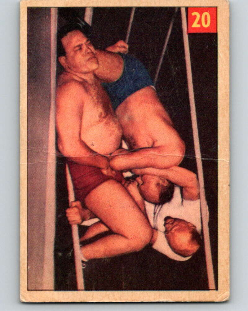 1954 Parkhurst #20 Toar Morgan Wrestling Vintage Sports Card  V5144
