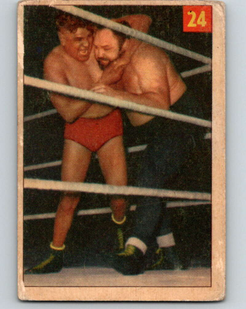 1954 Parkhurst #24 Big Ben Morgan Wrestling Vintage Sports Card  V5149