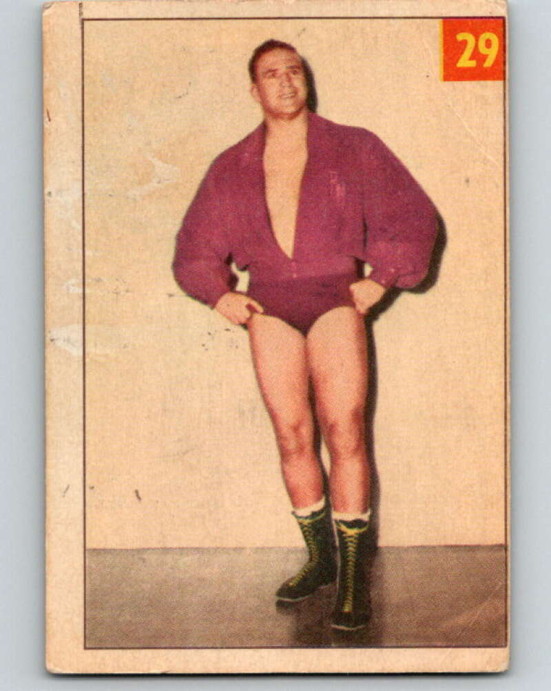 1954 Parkhurst #29 Roy McLarity Wrestling Vintage Sports Card  V5152