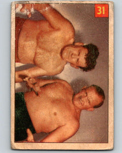 1954 Parkhurst #31 Lee Henning Wrestling Vintage Sports Card  V5154