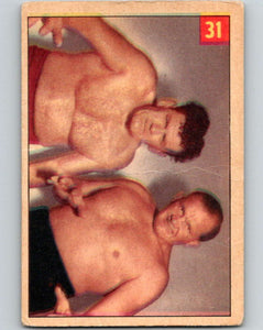 1954 Parkhurst #31 Lee Henning Wrestling Vintage Sports Card  V5155