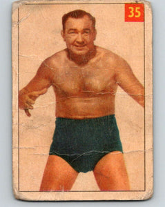 1954 Parkhurst #35 Joe 'Killer' Christie Wrestling Vintage Sports Card  V5156