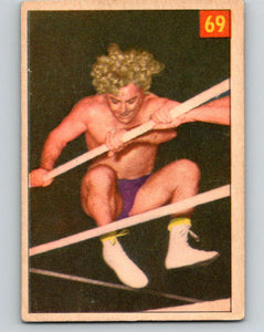 1954 Parkhurst #69 Gorgeous George Wrestling Vintage Sports Card  V5157