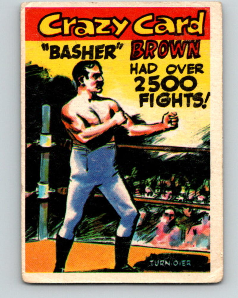 1961 Crazy Cards #1 Basher Brown 2500 Fights! Boxing V5159