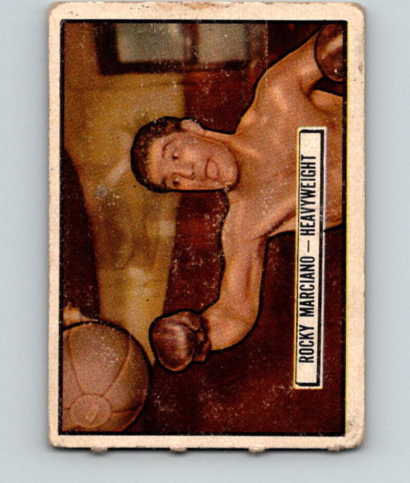 1951 Topps Ringside #32 Rocky Marciano Heavyweight Vintage Boxing V5163