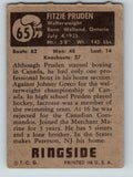 1951 Topps Ringside #65 Fitzie Pruden Welterweight Vintage Boxing V5167