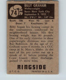 1951 Topps Ringside #74 Billy Graham Welterweight Vintage Boxing V5169