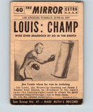 1954 Topps Scoops #40 Joe Louis New Champ Vintage Boxing V5172