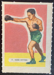 1945-47 Kellogg's All-Weat #17 Hard Hitting Vintage Boxing V5174