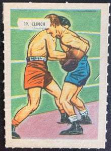 1945-47 Kellogg's All-Weat #19 Clinch Vintage Boxing V5175