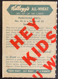 1945-47 Kellogg's All-Weat #16 Punching Drill Vintage Boxing V5176