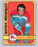 1972-73 WHA O-Pee-Chee  #302 Jean-Guy Gendron  Quebec Nordiques  V6948