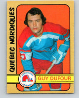1972-73 WHA O-Pee-Chee  #328 Guy Dufour  RC Rookie Quebec Nordiques  V6987
