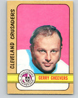 1972-73 WHA O-Pee-Chee  #340 Gerry Cheevers  Cleveland Crusaders  V7007