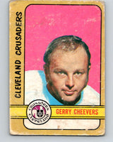 1972-73 WHA O-Pee-Chee  #340 Gerry Cheevers  Cleveland Crusaders  V7008