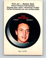 1968-69 O-Pee-Chee Puck Stickers #7 Jean Beliveau  Montreal Canadiens  V7362
