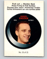 1968-69 O-Pee-Chee Puck Stickers #10 Roger Crozier  Detroit Red Wings  V7366