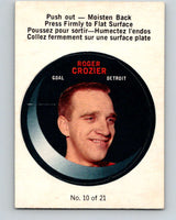 1968-69 O-Pee-Chee Puck Stickers #10 Roger Crozier  Detroit Red Wings  V7367