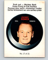 1968-69 O-Pee-Chee Puck Stickers #17 Johnny Bower  Toronto Maple Leafs  V7377