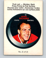 1968-69 O-Pee-Chee Puck Stickers #21 Henri Richard  Montreal Canadiens  V7380