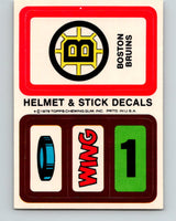 1979-80 Topps Team Stickers Boston Bruins Vintage Card 07469