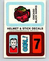 1979-80 Topps Team Stickers Chicago Blackhawks Vintage Card 07474