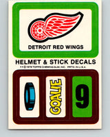 1979-80 Topps Team Stickers Detroit Red Wings Vintage Card 07476