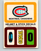 1979-80 Topps Team Stickers Montreal Canadiens Vintage Card 07481