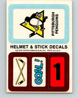 1979-80 Topps Team Stickers Pittsburgh Penguins Vintage Card 07485