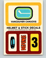 1979-80 Topps Team Stickers Vancouver Canucks Vintage Card 07488