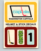 1979-80 Topps Team Stickers Washington Capitals Vintage Card 07489