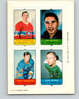 V7491--1969-70 O-Pee-Chee Four-in-One Cournoyer/JNeilson/Sabourin/Miszuk