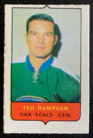 V7495--1969-70 O-Pee-Chee Four-in-One Mini Card Ted Hampson