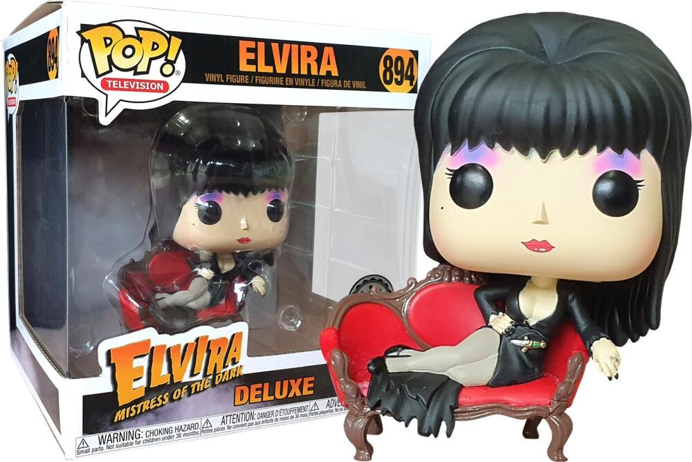 Funko Pop - 894 TV Elvira - Elvira Deluxe with Shays Lounge Vinyl Figure *EXCLUSIVE