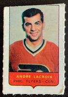 V7502--1969-70 O-Pee-Chee Four-in-One Mini Card Andre Lacroix
