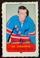 V7505--1969-70 O-Pee-Chee Four-in-One Mini Card Ed Giacomin